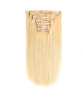 Blonde color #613 clip in hair extension