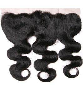 Virgin human hair body wave lace frontal